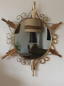 Vintage Retro Sunburst/Starburst Mirror