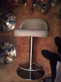 chrome breakfast bar stools x 2