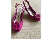 Pink M&S sling back shoes