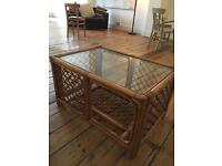 Glass top coffee table great condition