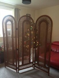 Vintage bamboo screen