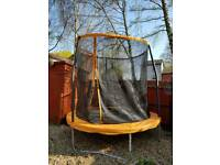 8ft trampoline & enclosure & cover