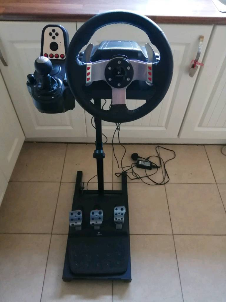 Logitech G27 steering wheel pedals shifter and stand | in Keady, County  Armagh | Gumtree