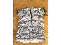 Silver/grey padded Gap gilet age 3