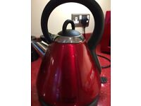 Russell Hobbs electric kettle in red and black