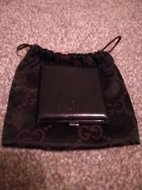 Gucci compact mirror and pouch