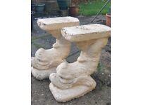 Serpent concrete bench legs
