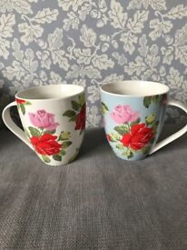 Cath kidston discontinued floral mugs. Churchill fine china.cup.vintage roses