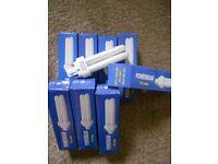 8 LOW ENERGY LAMP 10 WATT 4 PIN CAP LIGHT BULBS
