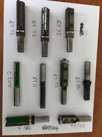 """1/2"""" Shank Trend router cutters excellent used condition"""
