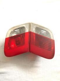 BMW 3 Series E46 Rear Tail Lights Pair boot lid Bulb Holder set