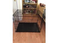 Large double doored dog cage
