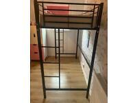 Black Metal sleeper bed
