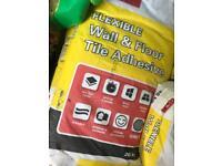 Tile adhesive 20kg bags