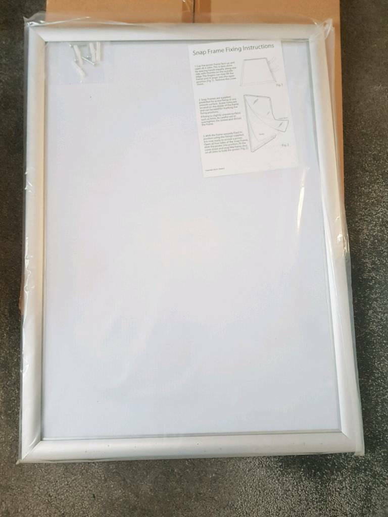 NEW x 2 Silver Snap Frames A2 poster display board | in Enfield ...