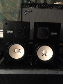 Yamaha NS10m Matched Pair + Amp