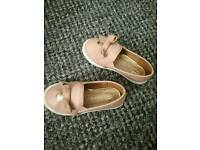 Baby girls shoes size 5 River Island
