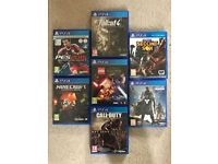7 PS4 Games for Sale