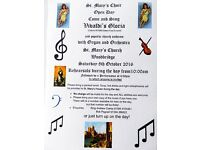 St. Mary's Choir OPEN DAY Come and Sing VIVALDI'S GLORIA