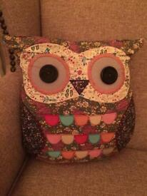Sass and belle Molly vintage owl cushion