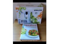 New & Sealed Spiralizer with addition New Recipe Book