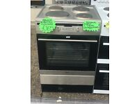 AMICA BRAND NEW 60CM SOLID TOP ELECTRIC COOKER IN SHINY SILIVER
