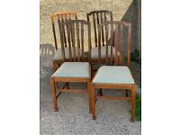 4 Victorian Oak Dining Chairs Delivery available