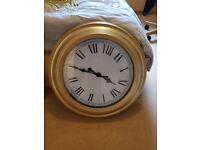 Large gold clock / wedding