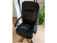 Black swivel desk chair from Ikea