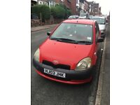 Red toyota yaris for sale good condition