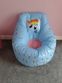 My little pony large inflatable chair