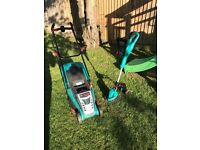 CORDLESS ELECTRIC lawn mower and strimmer (no more wires!!)