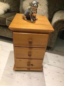 Solid heavy all pine bedside table