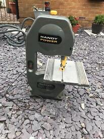 Handy power band saw comes with brand new blade