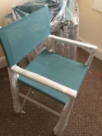 4 brand new foldable garden chairs