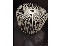 Metal lampshade in white