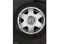 Original 16 inch alloys with tyres