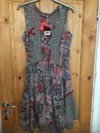 UNUSUAL JOE BROWN DRESS (BRAND NEW WITH TAGS) SIZE 10
