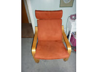Ikea Poang Chair Orange suedette covers