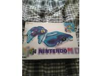 RARE CLEAR BLUE BOXED NINTENDO 64 CONSOLE