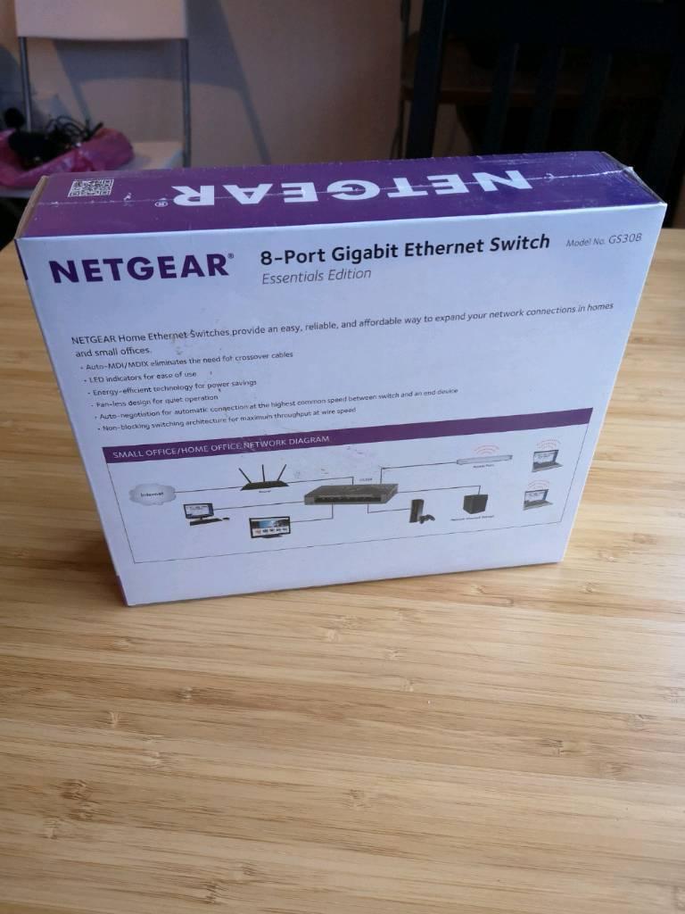 Netgear Ethernet Switch 8port In Islington London Gumtree Network Diagram Small Office