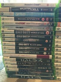 Huge bundle of X Box and X Box 360 games