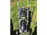 GTech cordless lawnmower