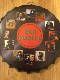 Bob Marley bottle cap wall hanger