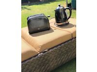 Black Sparkle Goodmans Kettle and toaster