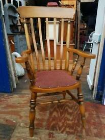 Wooden Grandfarther Carver Chair