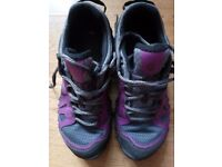 Merrell Purple and Grey Hiking Shoes Size 3.5