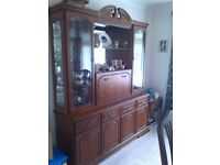 dining table,chairs,wall unit and table