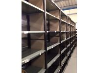 job lot 10 bays QBS heavy duty industrial shelving 2.1m high ( storage , pallet racking )