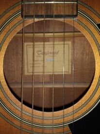 Tanglewood 28 SNQ steel string acoustic guitar in natural matt